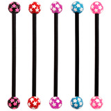 Bioflex Industrial Scaffold Barbells - Multi-Star 34 / Pack of 5 black shafts with Multi Star balls (5 colours) / 5