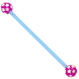 Bioflex Industrial Scaffold Barbells - Multi-Star 34 / Blue shaft with Purple Multi Star Balls / 5