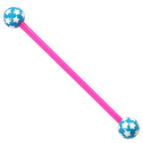 Bioflex Industrial Scaffold Barbells - Multi-Star 36 / Pink shaft with Blue Multi Star Balls / 5