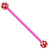 Bioflex Industrial Scaffold Barbells - Multi-Star 36 / Pink shaft with Red Multi Star Balls / 5