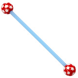 Bioflex Industrial Scaffold Barbells - Multi-Star 36 / Blue shaft with Red Multi Star Balls / 5