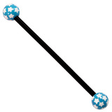 Bioflex Industrial Scaffold Barbells - Multi-Star 36 / Black shaft with Blue Multi Star Balls / 5