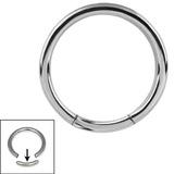 Titanium Smooth Segment Ring Large Gauge 2mm 2mm gauge, 12mm internal diameter / Mirror Polish