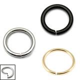 Multipacks - Continuous Rings 1.0mm, 9mm, Steel, Black Steel, Zircon Steel