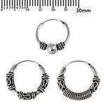 Multipacks - Sterling Silver Hoops For ear piercings, cartilage (orbital) piercings and the ear lobe. 3 single hoops as shown. (H33, H60, H72)