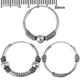 Multipacks - Sterling Silver Hoops For ear piercings, cartilage (orbital) piercings and the ear lobe. 3 single hoops as shown. (H43, H44, H83)