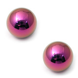 Titanium Threaded Balls 1.2mm, 3mm, Purple - 2 balls