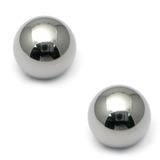 Titanium Threaded Balls 1.6mm, 3mm, Mirror Polish - 2 balls
