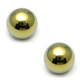 Titanium Threaded Balls 1.6mm, 4mm, Gold - 2 balls
