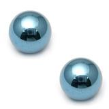 Titanium Threaded Balls 1.6mm, 4mm, Ice Blue - 2 balls