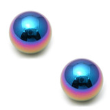 Titanium Threaded Balls 1.6mm, 5mm, Rainbow - 2 balls