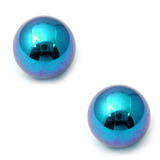 Titanium Threaded Balls 1.6mm, 8mm, Turquoise - 2 balls
