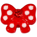 Threaded Attachment - Polka Dot Red Bow 1.6