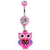 Belly Bar - Cute Owl 1.6mm, 10mm(most popular size).