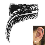 Surgical Steel Clip On Ear Cuff - Feather Feather