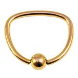 Titanium D Ring 1.6mm, 16mm, Gold