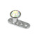 Titanium Dermal Anchor with Jewelled Disk Top (3mm diameter) - SKU 25098