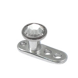 Titanium Dermal Anchor with Jewelled Disk Top (3mm diameter) - SKU 25099
