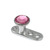 Titanium Dermal Anchor with Jewelled Disk Top (3mm diameter) - SKU 25110