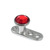 Titanium Dermal Anchor with Jewelled Disk Top (3mm diameter) - SKU 25112