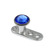Titanium Dermal Anchor with Jewelled Disk Top (3mm diameter) - SKU 25113