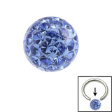 Smooth Glitzy Ball (Clip-in ball for BCRs) 4mm, Sapphire