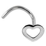 Steel Outline Heart Nose Studs 0.8mm, Outline Heart