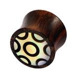 Organic Plug Sono Wood and Mother of Pearl (OG16) 12
