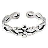 925 Sterling Silver Flower Twist Toe Ring Silver Daisy Twist