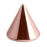 Rose Gold Steel Cones (Rose Gold colour PVD) 1.2mm, 3mm, 3mm