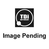 Titanium Internally Threaded Curved Bar 1.6mm - Jewelled Double Jewel, 1.6mm, 12mm, 5mm