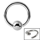 Steel Fixed Bead BCR Rings 0.8mm, 10mm, 3mm