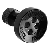 Black Steel Button Tragus Bar 1.2mm, 6mm