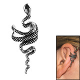 Surgical Steel Clip On Ear Cuff - Snake Snake