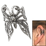 Surgical Steel Clip On Ear Cuff - Butterfly Butterfly