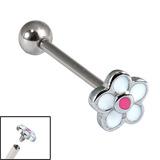 Titanium Internally Threaded Barbells 1.6mm - Daisy Flower 1.6mm, 18mm