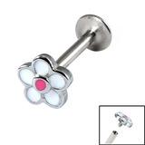 Titanium Internally Threaded Labrets 1.2mm - Daisy Flower 1.2mm, 10mm