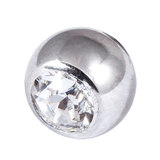 Steel Threaded Jewelled Balls 1.6x6mm clear