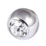 Steel Threaded Jewelled Balls 1.6x6mm - SKU 274