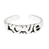 925 Sterling Silver LOVE Toe Ring Silver LOVE