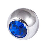 Steel Threaded Jewelled Balls 1.6x6mm capri blue