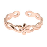 925 Sterling Silver Flower Twist Toe Ring Rose Gold Plated Silver Daisy Twist