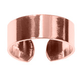 925 Sterling Silver Simple Band Toe Ring Rose Gold Plated Sterling Silver Toe Ring - adjustable size. Plain Band