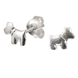Sterling Silver Scottie Dog Stud Earrings Scottie Dog - 1 pair.
