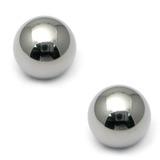 Titanium Threaded Balls 1.0mm, 3mm, Mirror Polish - 2 balls
