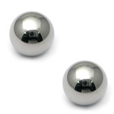 Titanium Threaded Balls 1.2mm, 2mm, Mirror Polish - 2 balls