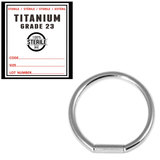Sterile Titanium Bar Closure Rings 1.2mm, 10mm, Mirror Polish