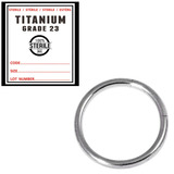 Sterile Titanium Segment Rings 1.2mm, 8mm, Mirror Polish
