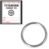 Sterile Titanium Segment Rings 1.2mm, 10mm, Mirror Polish