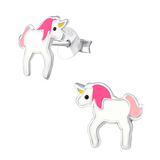Sterling Silver Unicorn Stud Earrings Unicorn - 1 Pair